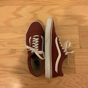 "Maroon ""Old Skool"" Vans"
